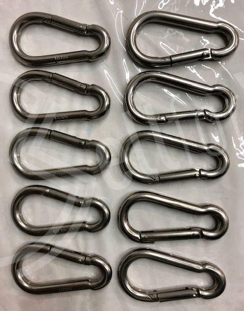 sellforyou immagine default articolo correlato non trovatoLotto di 10 pz. moschettoni in acciaio inox AISI 36 10Ø Osculati
