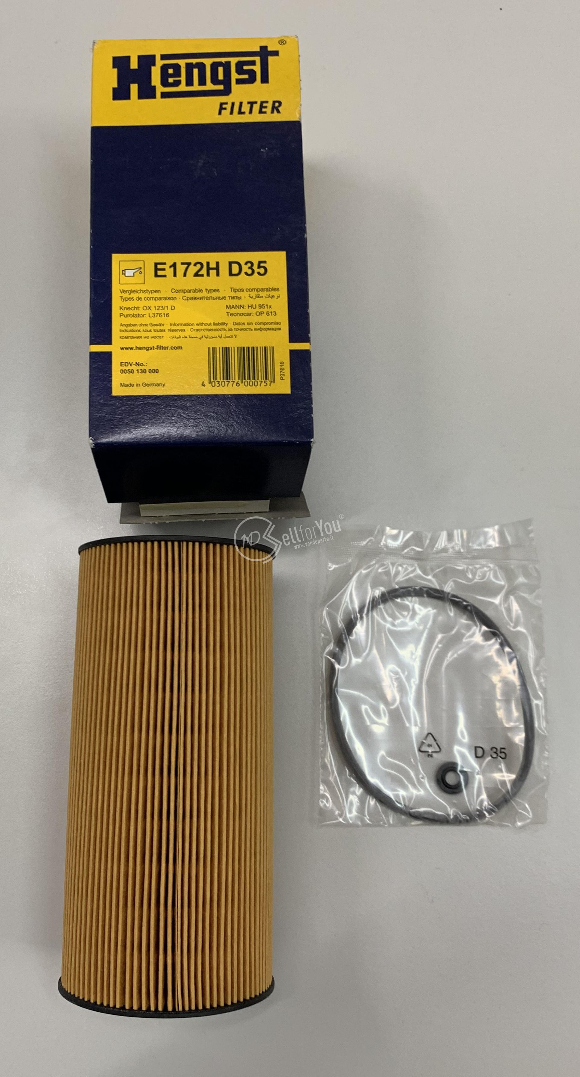 sellforyou immagine default articolo correlato non trovatoFiltro olio Hengst E172H D35 made in Germany P37616
