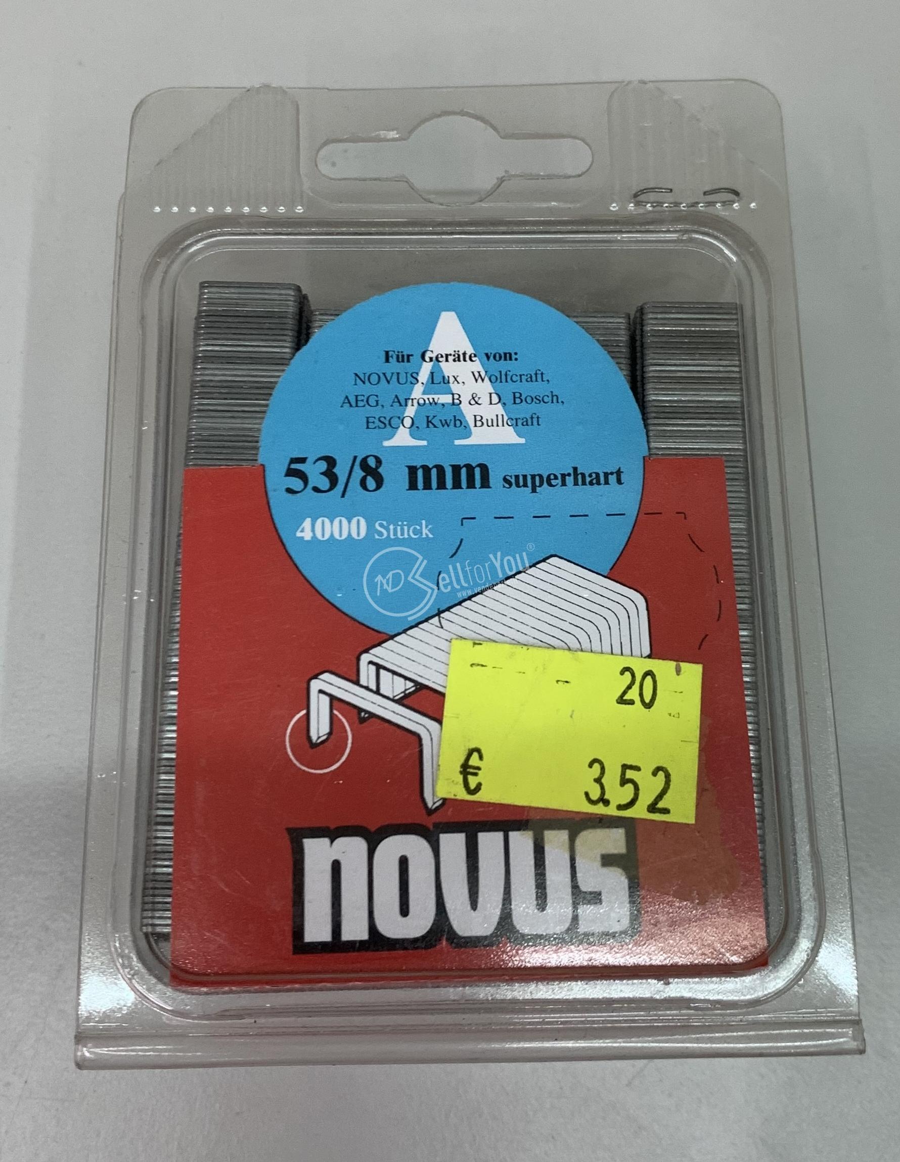 sellforyou immagine default articolo correlato non trovatoCartucce per pinzatrice 53/8 mm pz. 4000 Novus