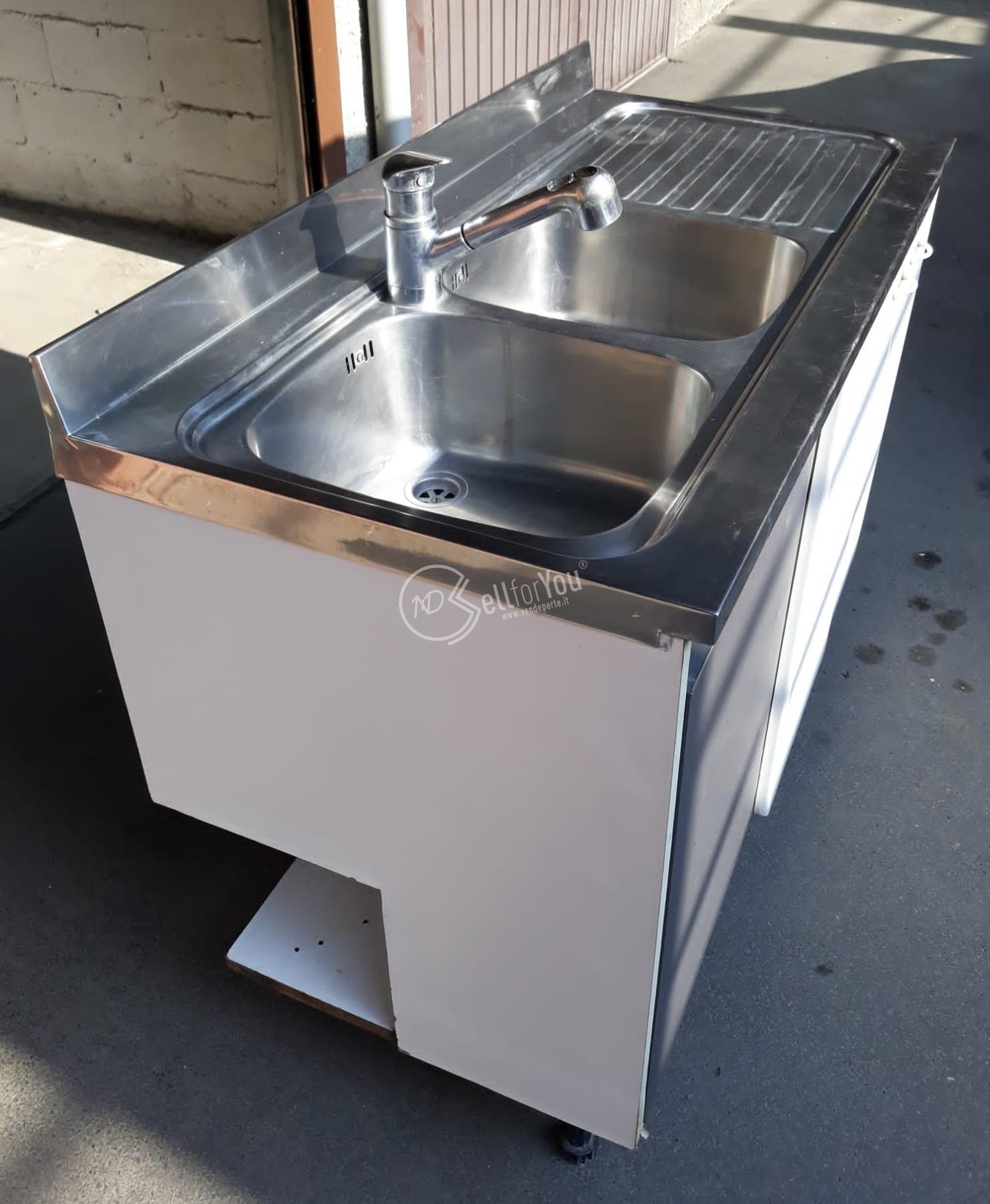 sellforyou immagine articolo Lavello in acciaio inox due vasche